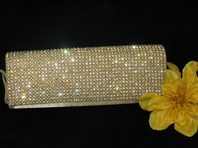 Sophisticated Gold Crystal Clutch Purse - SALE!!!