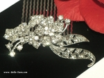 Sorana - Romantic rhinestone wedding bridal hair comb - SPECIAL one left