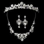 Sparking Wedding Tiara with Necklace Set