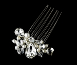 Sparkle - Swarovski Crystal freshwater pearl Hair Comb - SALE!!