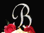 Sparkling Large Crystal Monogram Cake Topper