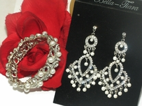 Wedding Jewelry - Earrings and Bracelet set