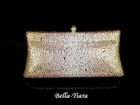 Spectactular champagne swarovski crystal clutch purse - SALE