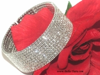 Annabel - Spectacular Swarovski crystal wide cuff wedding bracelet - SPECIAL one left