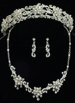 Spectacular Freshwater Pearl Tiara Band and Matching Necklace Set