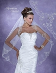 Spectacular high end royal beaded wedding veil - SALE