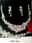 SPECTACULAR ivory freshwater pearl wedding necklace set - 3PC SET SPECIAL
