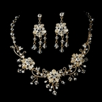 Spectacular Swarovski crystal gold jewelry set - SALE