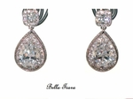 Splendida - Gorgeous Cubic Zirconia vintage wedding earrings - SPECIAL one left