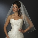 Star - Beautiful 2 tier pearl and rhinestone veil - SPECIAL