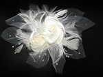 Star - NEW Stunning Ivory rose w/ crystal bridal flower - SPECIAL!