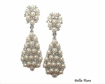 Starlets - Beautiful ivory pearl Swarovski crystal drop earrings - SALE