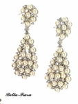 Starlets - Beautiful ivory pearl and crystal bridal earrings - SALE