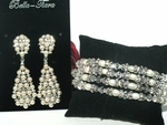 Starlets - High-End off white pearl and Swarovski bridal jewelry - SALE