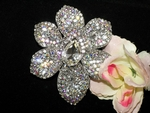 Stefania - GORGEOUS bridal crystal hair brooch accessory - SALE!!