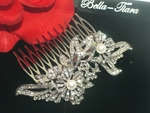 Stelllina - Romantic rhinestone and pearl wedding comb - SPECIAL one left
