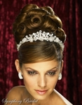 Striking Bold Crystal Crown Bridal Tiara