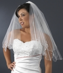 Stunning 2-tier Ivory scalloped beaded edge - SALE!!