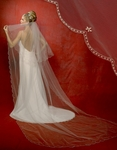 Stunning Cathedral Beaded Edge Bridal Veil