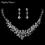 Stunning Couture Swarovski Crystal Necklace Set