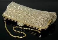 Stunning!!! Elegant Gold or Silver Swarovski Crystal Purse - special  -- wholesale