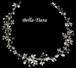 Stunning Gold and Pearl halo headband - sale