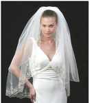 STUNNING - Royal Collection 2-tier crystal beaded wedding veil - SPECIAL a few left