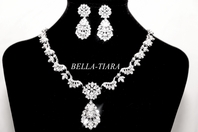 Stunning royal CZ wedding necklace set - RENTAL