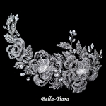 Royal Collection - Stunning Swarovski crystal Floral Rose Hair Comb - SALE