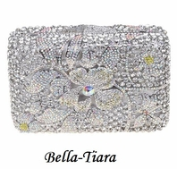 New!! Stunning Swarovski  Crystal Evening Clutch - SALE