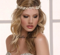 Stunning silver or gold wedding headband