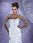 STUNNING Swarovski crystal beaded wedding veil - SALE