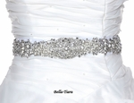 Stunning swarovski crystal pearl wedding sash belt - SALE