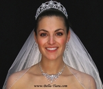 STUNNING Swarovski crystal tiara, necklace set and veil - SPECIAL