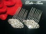 Stunning Swarovski crystal wedding hair combs - set of 2 - SPECIAL one left