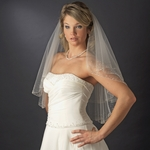 STUNNING two tier crystal beaded edge bridal veil - SALE!!