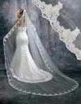 Stunning vintage lace cathedral bridal veil - SALE!!