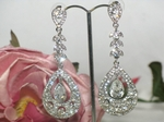 Summer - Vintage-inspired rhinestone drop earrings
