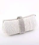 Symphony  - Couture light ivory rhinestone wedding purse - SALE hot a few left