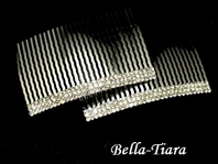 Talia - Elegant set of rhinestone hair combs - SPECIAL