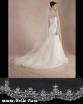 Talia - Royal Collection high end Swarovski crystal cathedral veil - AMAZINGLY PRICED!!