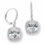 Talia - Stunning elegant princess cut CZ earrings - SPECIAL