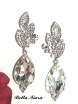 Tama - Dramatic rhinestone drop and crystal bridal earrings - SPECIAL