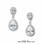 Tama - Classic elegant Cubic Zirconia wedding earrings - SPECIAL