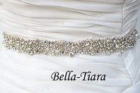 Tania - Beautiful crystal pearl bridal belt - sale