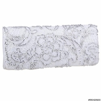 Tanya -- GORGEOUS off white lace Crystals wedding clutch -SPECIAL ONE LEFT