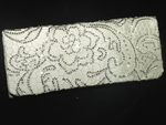 Tanya -- GORGEOUS off white lace with Crystals wedding clutch - SALE