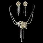 Tesoro - Beautiful freshwater ivory pearls bridal necklace set - SALE!!