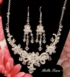 Tesoro - STUNNING!! Crystal Bridal Necklace Set