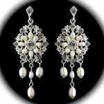Thalia - Romantic vintage freshwater pearl earrings - SALE